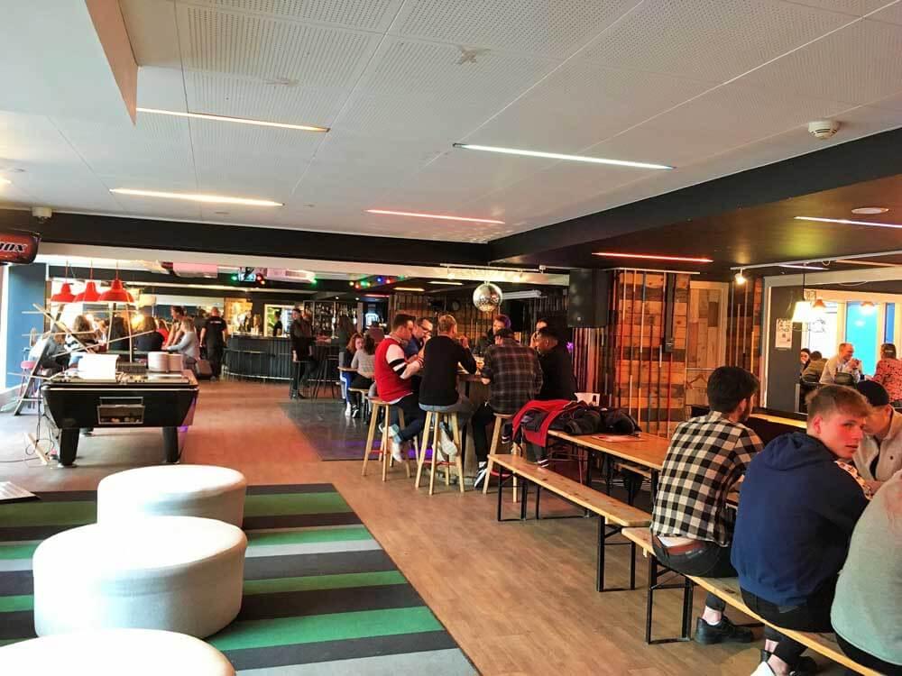 people socialising at the Generator Hostel Copenhagen Denmark