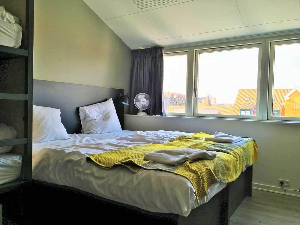 twin beds at the hostel generator copenhagen denmark
