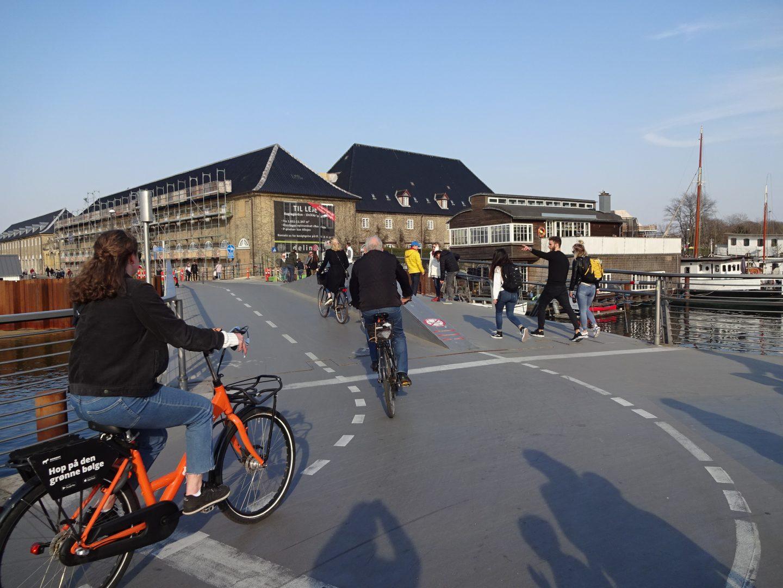 Cycling in Copenhagen Denmark with kids