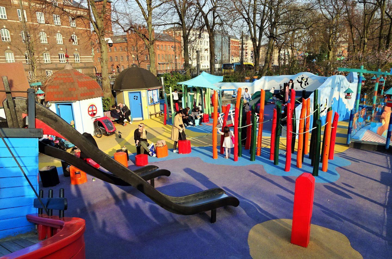 Tivoli gardens playground copenhagen denmark