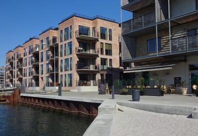 bathing harbour in front of cafe noa'h copenhagen denmark