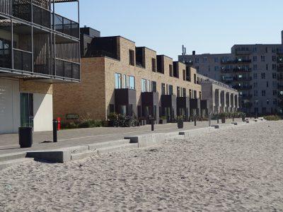 Sandy beach at Islands Brygge, Copenhagen Denmark