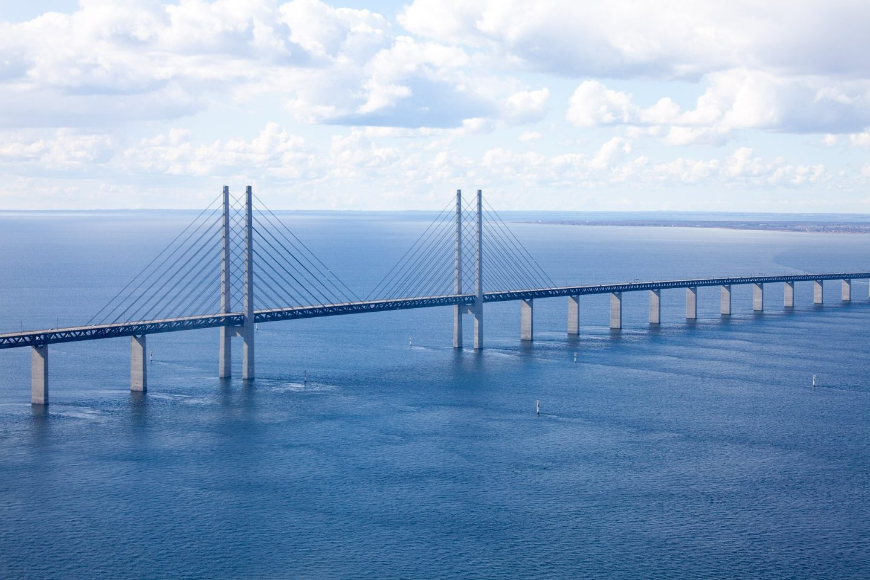 Øresundbridge connecting Denmark to Sweden