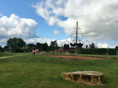 Broadway playground Cotswolds with kids