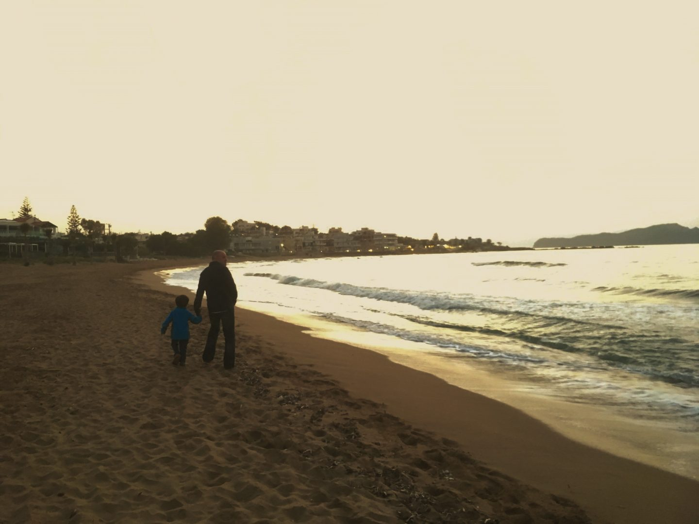 evening walk beach ammos hotel chania crete