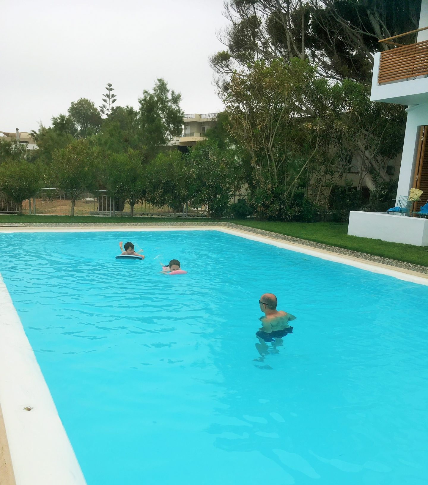 heated swimming pool ammos hotel in crete