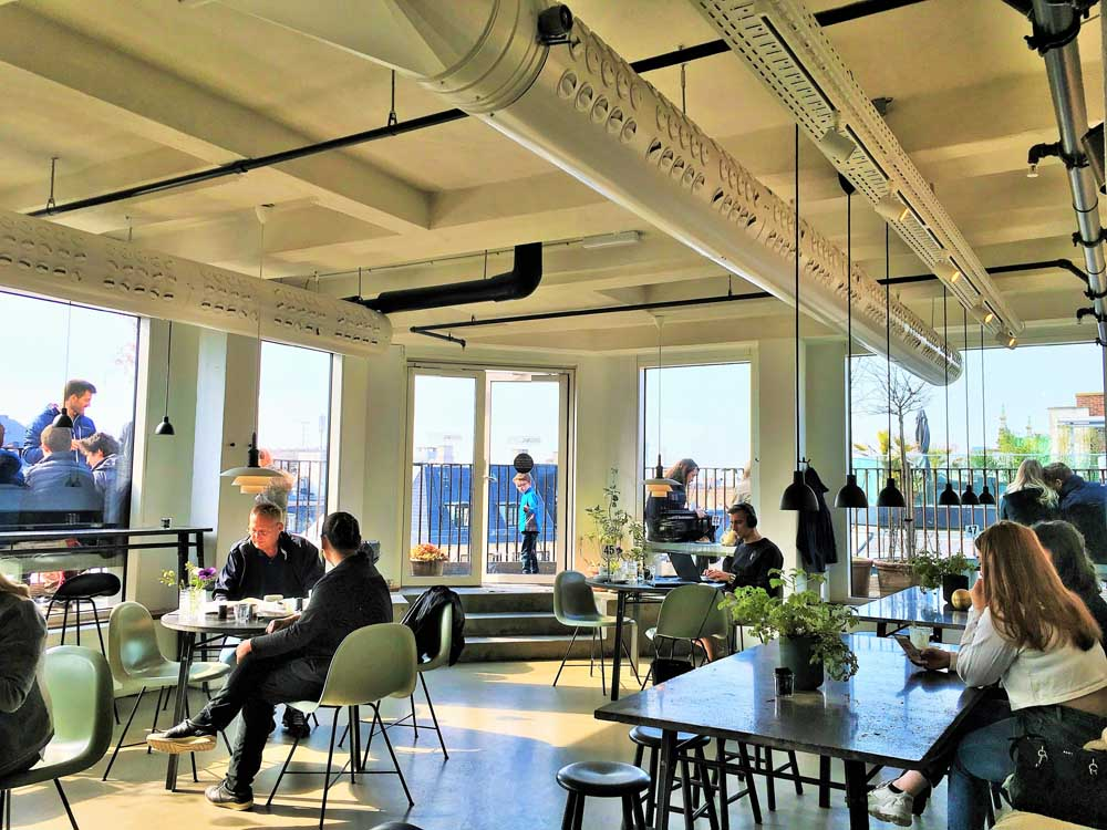 illum rooftop cafe in copenhagen denmark