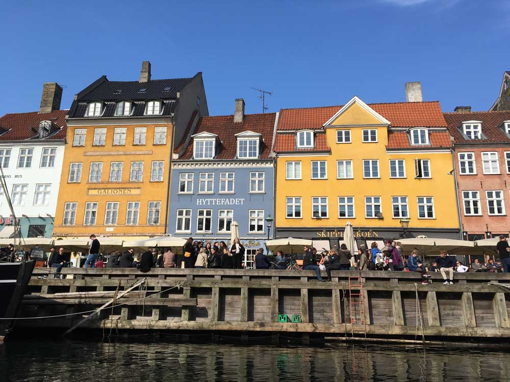 colourful buildings in Nyhavn: New Harbour in Copenhagen