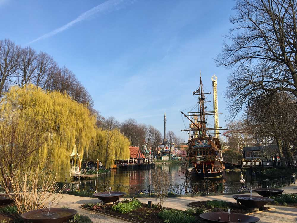 pirate ship lake tivoli gardens denmark