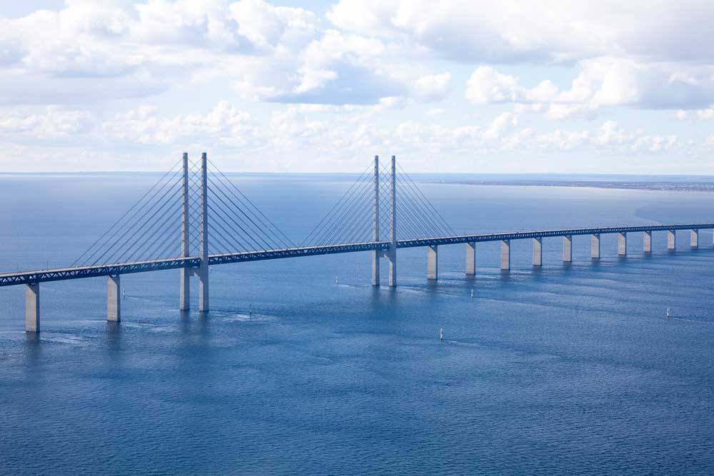 The Øresund Bridge connecting Denmark to Sweden, credit Pixabay Daniel 4021