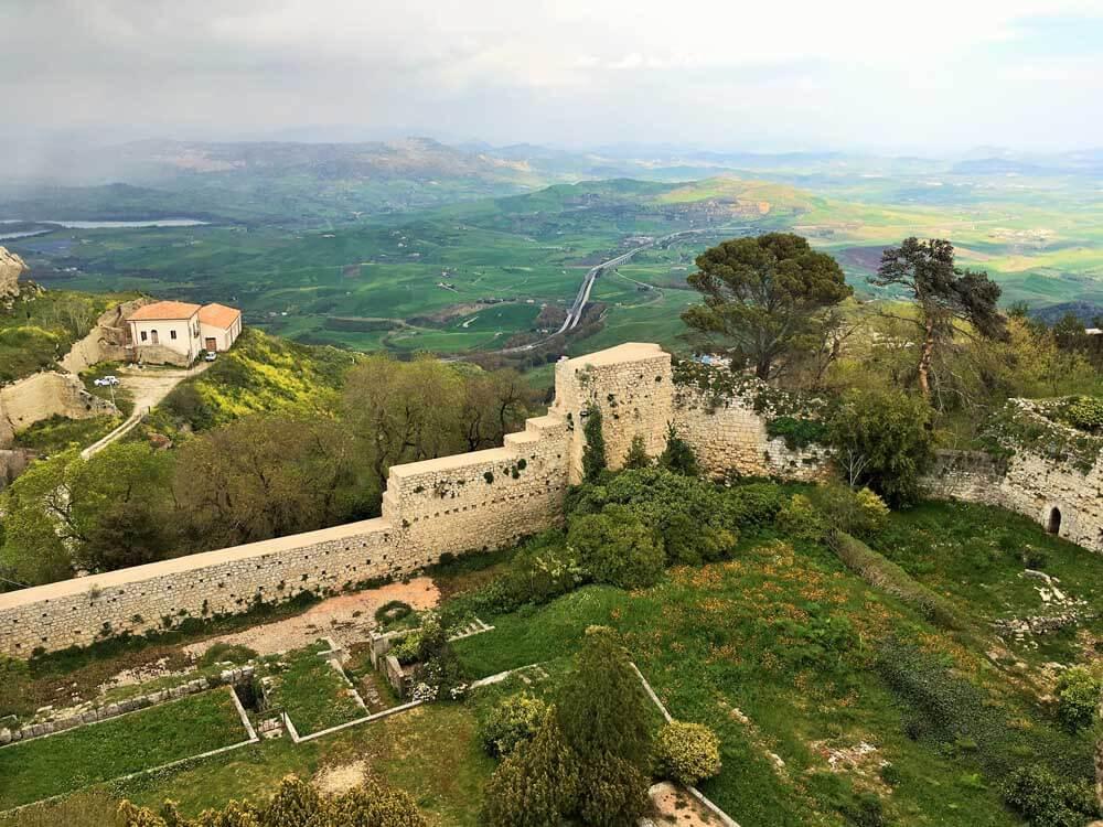 the view from Torre Pisana, Castello di Lombardia, Enna, Sicily