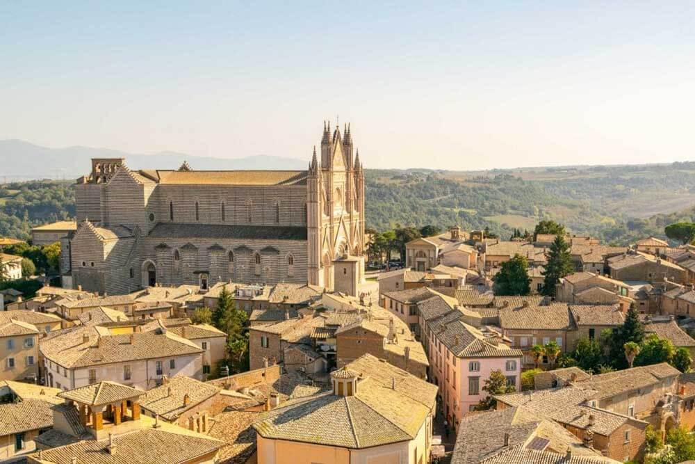 the view from Torre del Moro, Orvieto, Umbria
