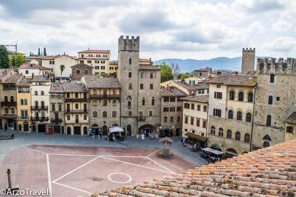view from the bell tower of Palazzo della Fraternita dei Laici, Arezzo