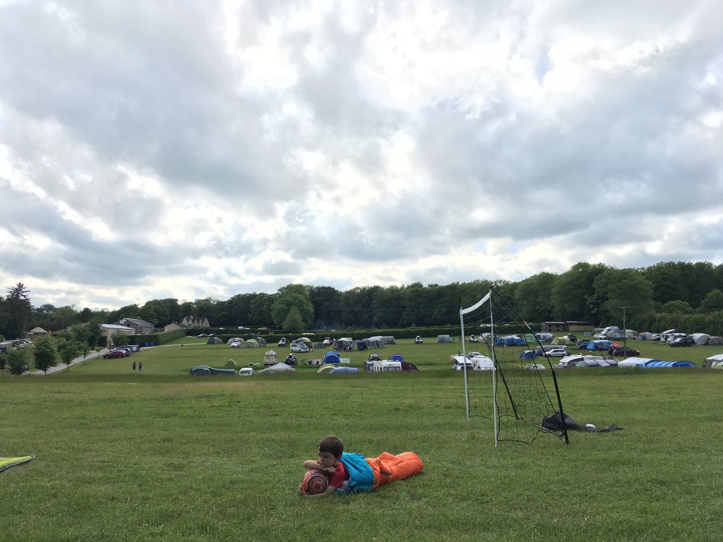 Camping at Far Peak campsite Cotswolds