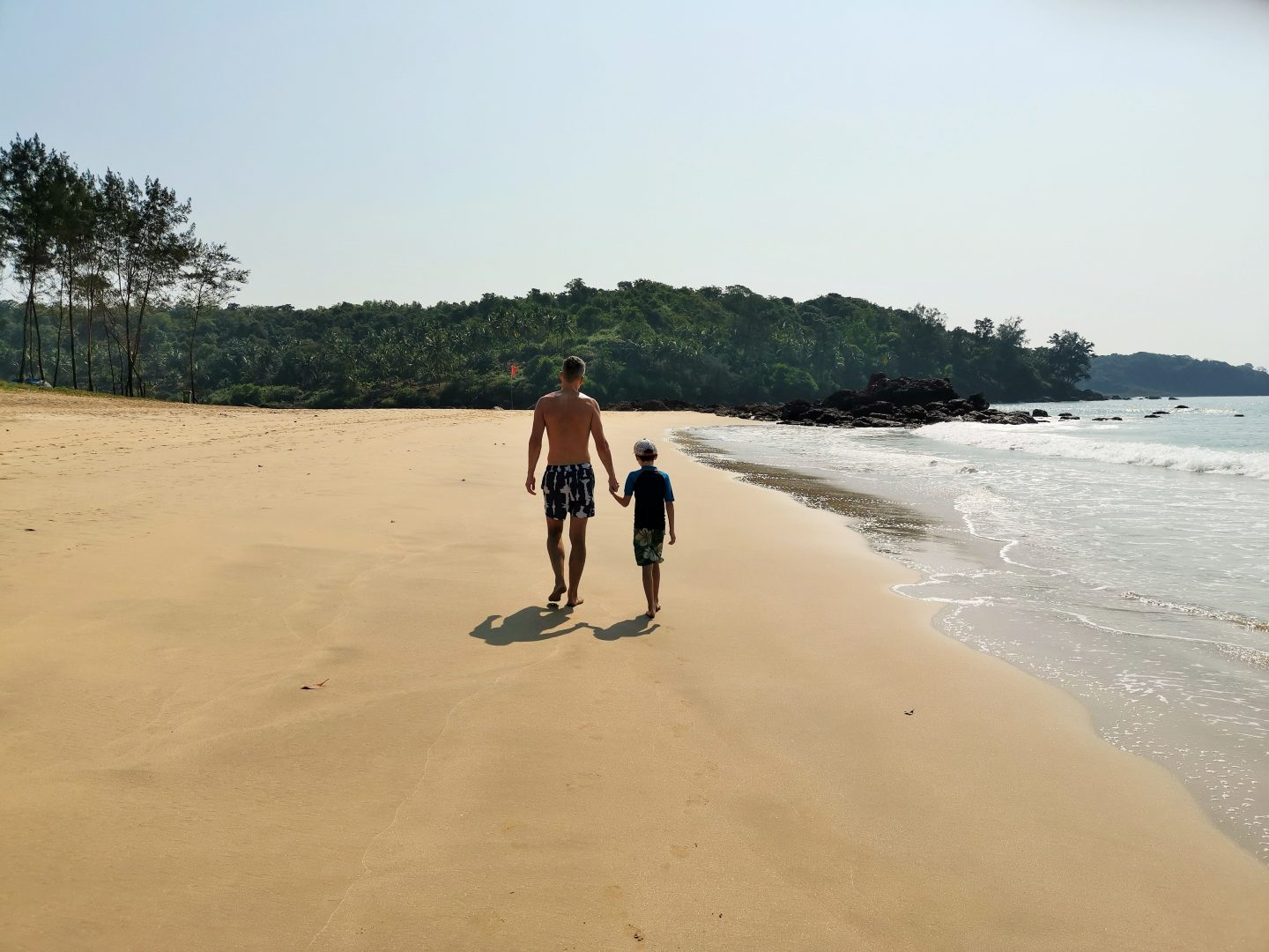 Galgibaga beach, Goa India family trip