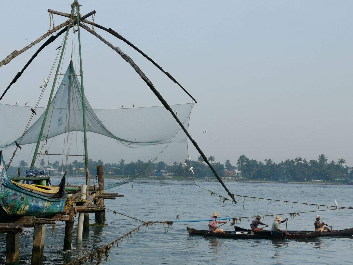Chinese fishing nets in Kochi, Kerala, India