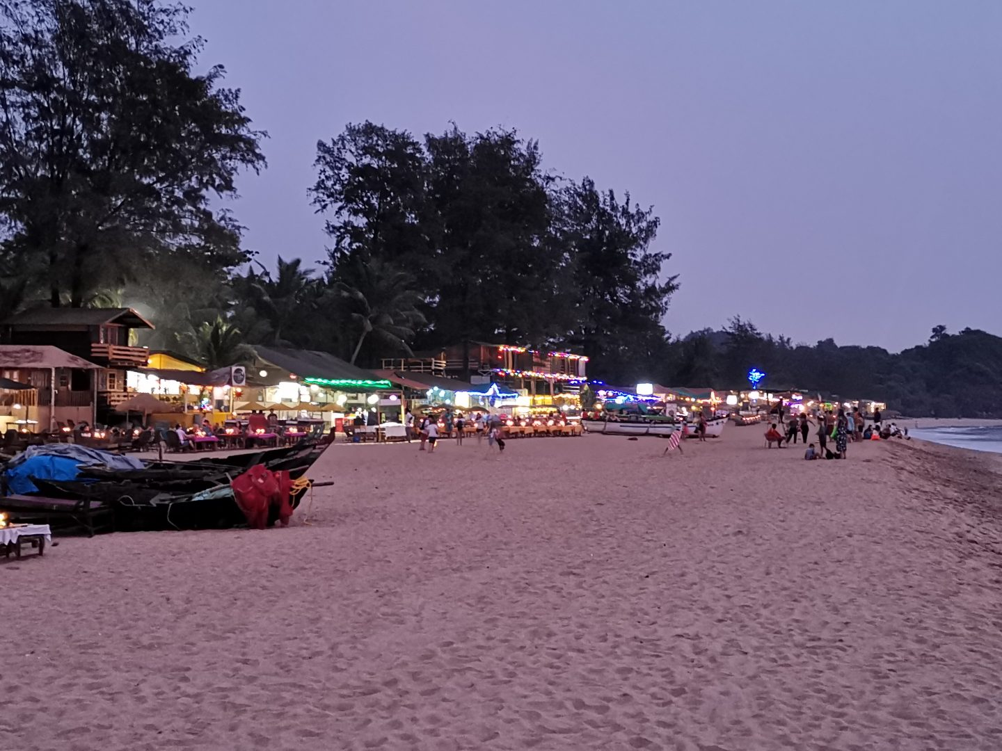 Patnem Beach at sunset, Goa India