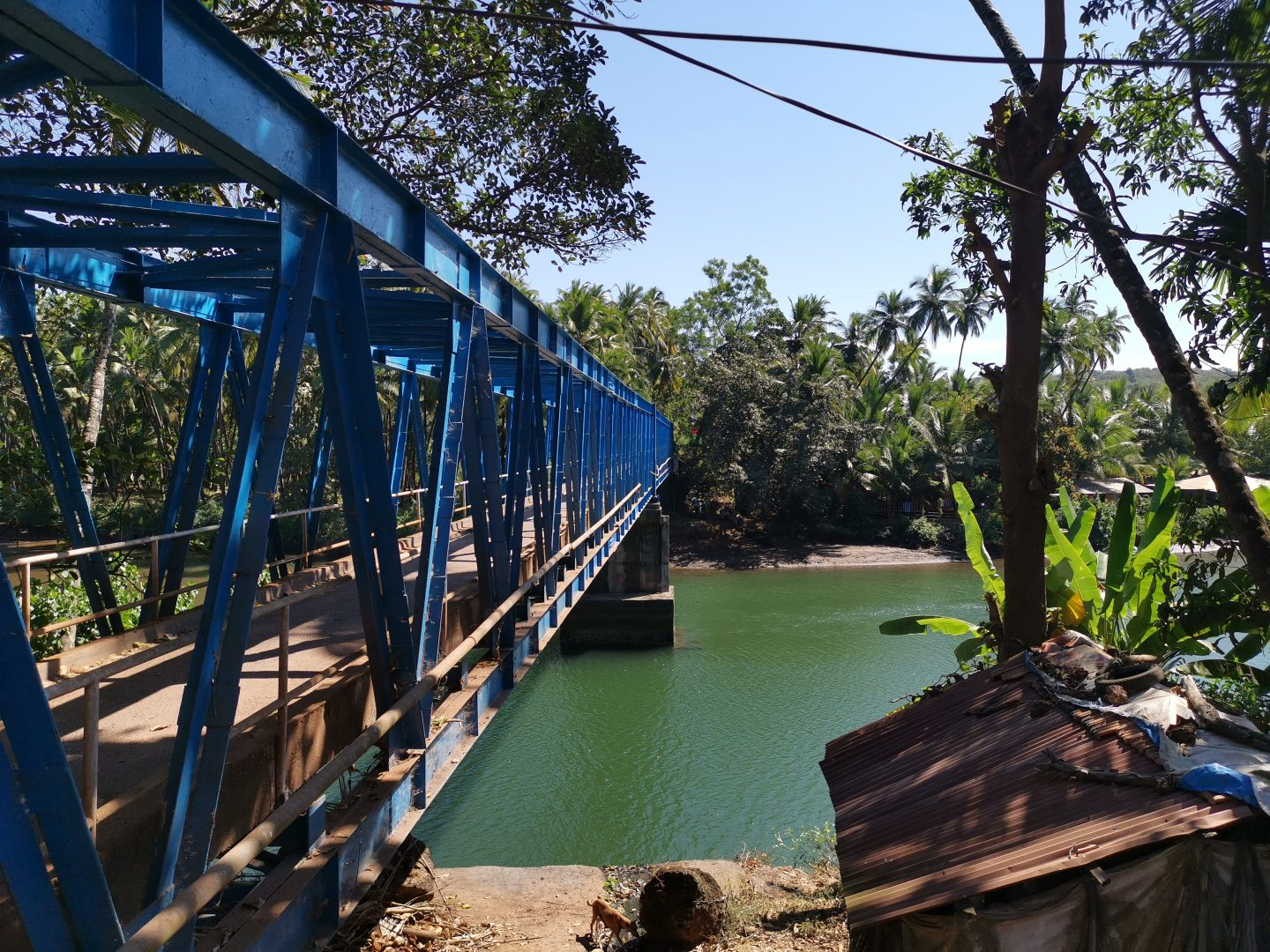 Bridge between Patnem and Galgibaga in Goa, family holiday to India