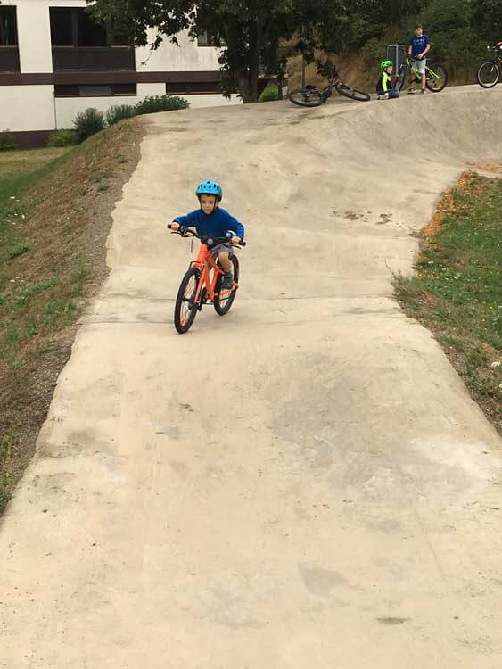 Bike track at Kaul campsite in Luxembourg