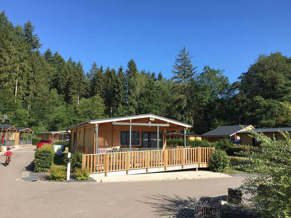 chalet on Luxembourg campsite Kaul Ardennes