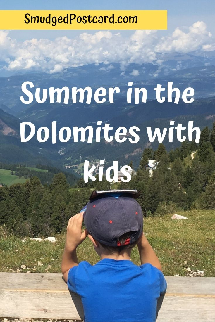 Summer in the Dolomites with kids, ideas for active holidays in the Val d'Ega region of north east Italy, family mountain holiday
