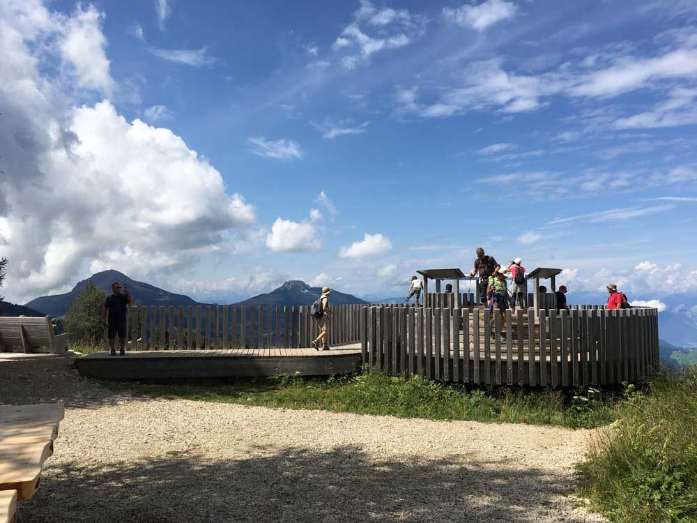 360 panorama platform of the Latemar Massif, dolomites italy