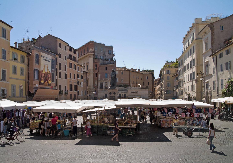 Campo de' Fiori, Rome, copyright Myrabella
