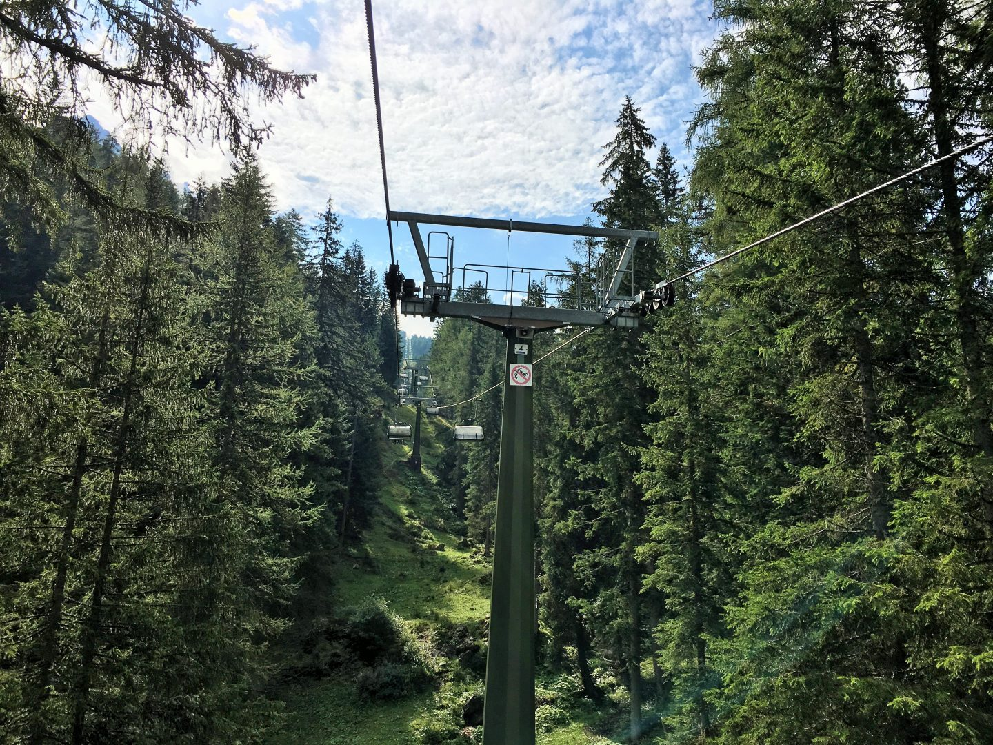 Oberholz chairlift, Dolomites Italy
