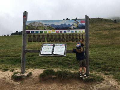 Learning through play on holiday in the Dolomites, family summer holiday