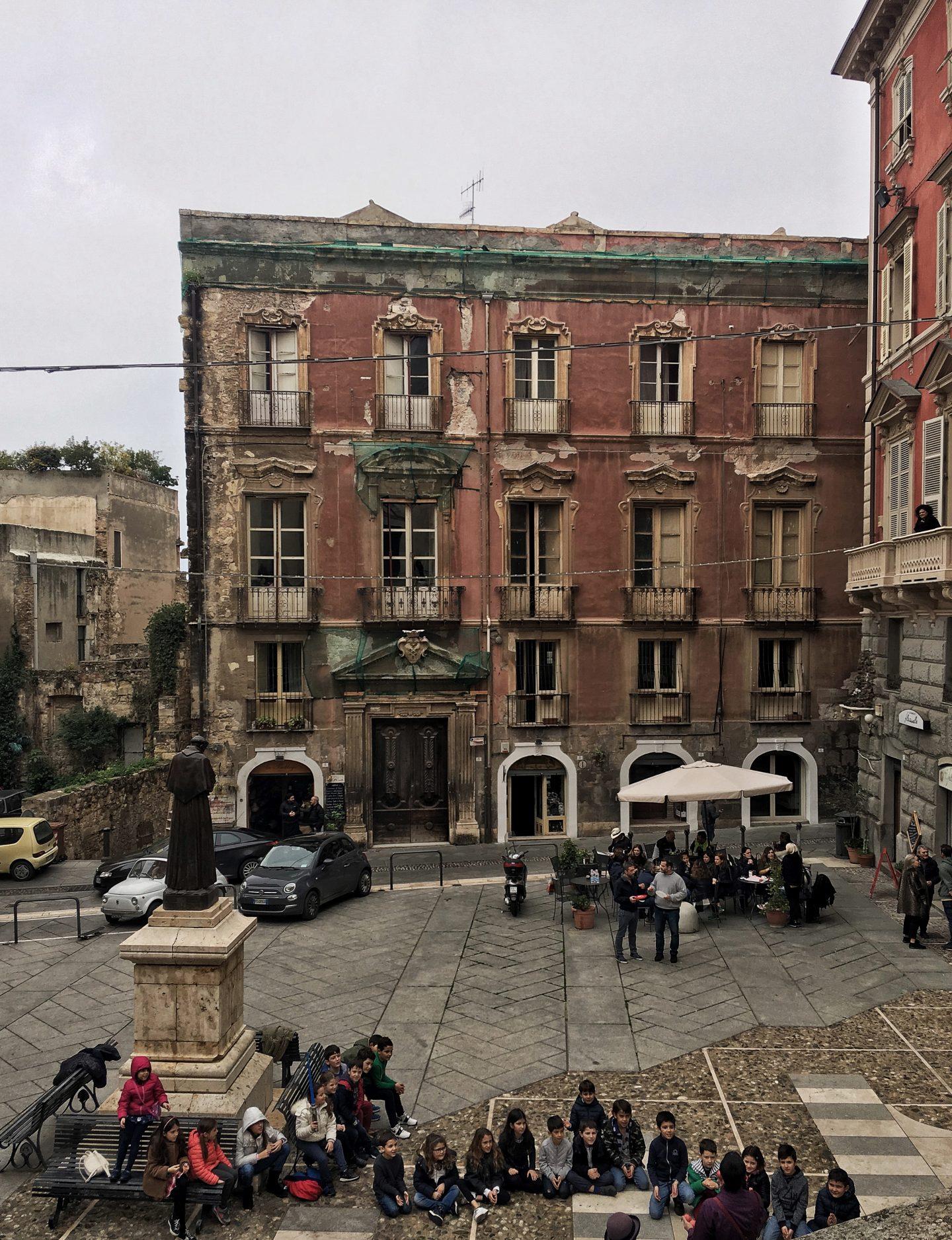 Piazza Carlo Alberto, Cagliari, Sardinia
