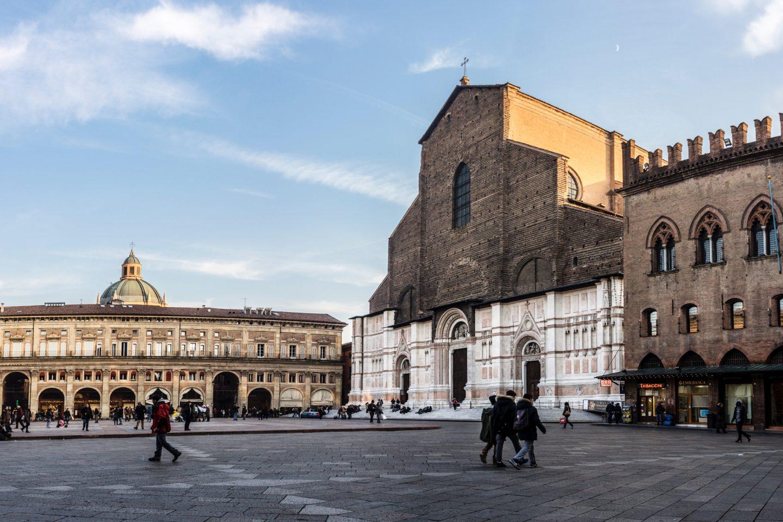 Piazza Maggiore, Bologna, Italy by Vanni Lazzari