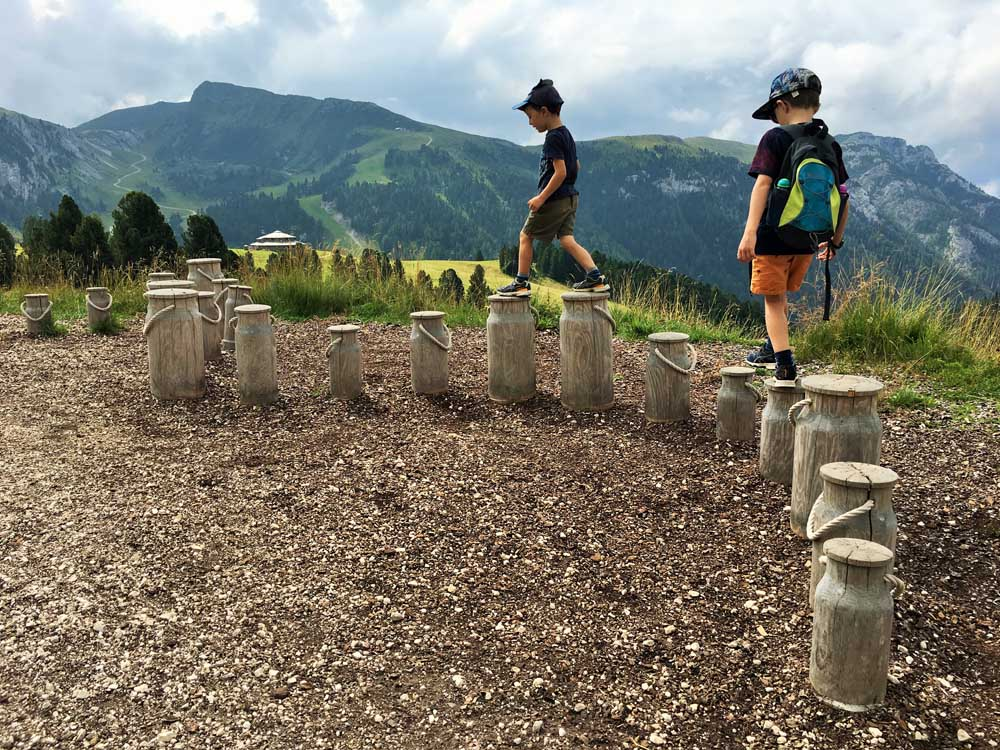 Children learning through play in the Dolomites 1