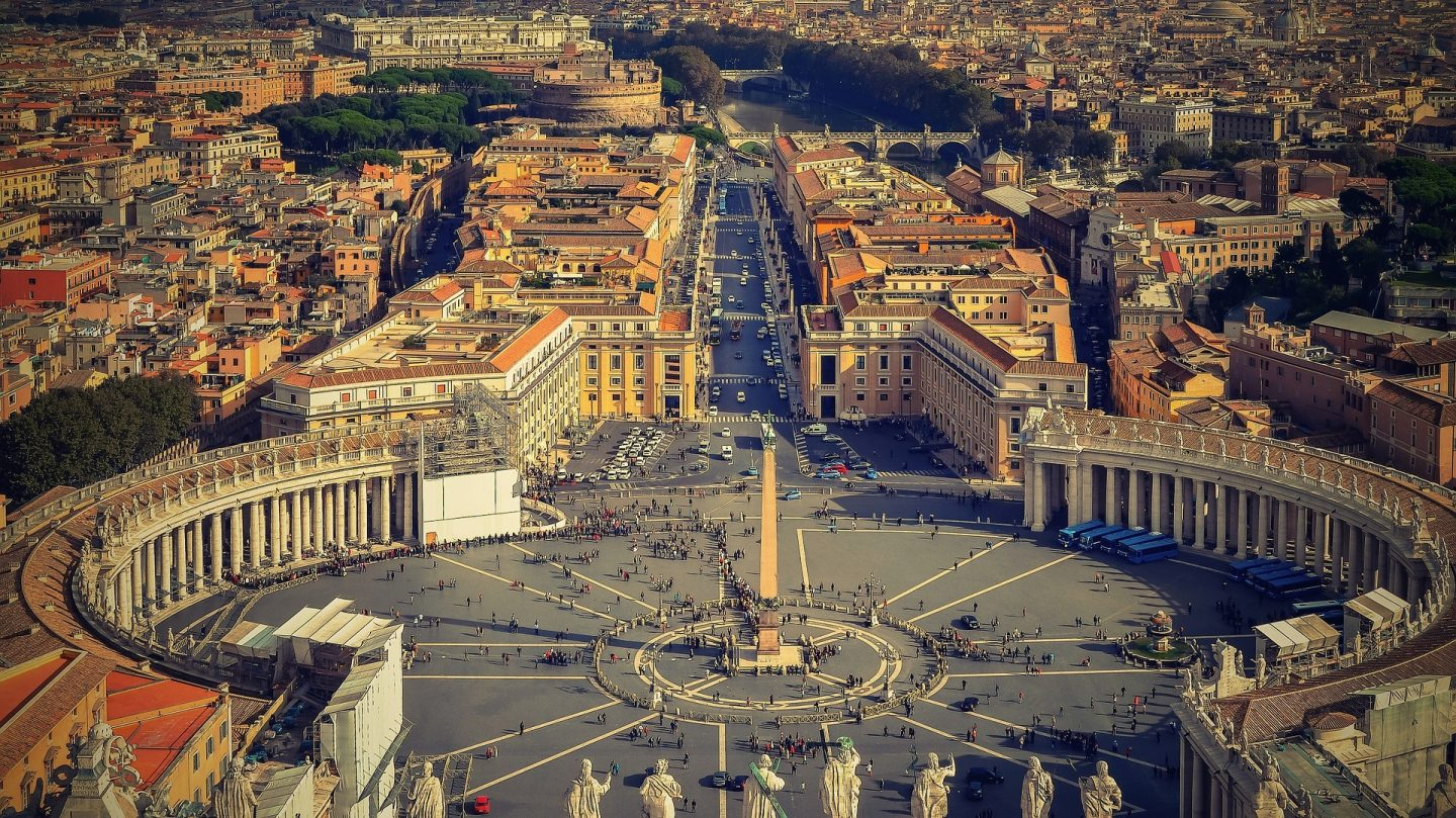 Piazza San Pietro, St Peters Square Rome Italy