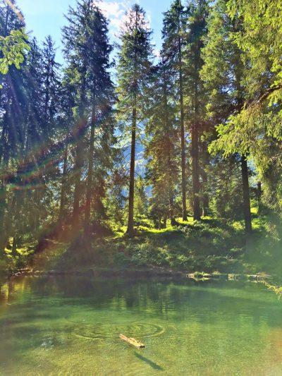Maderanertal hotel lake, Swiss Alps, hiking in Switzerland with kids, multi day trek