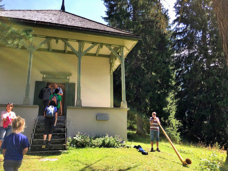 alphorn, national swiss day, maderanertal, Switzerland