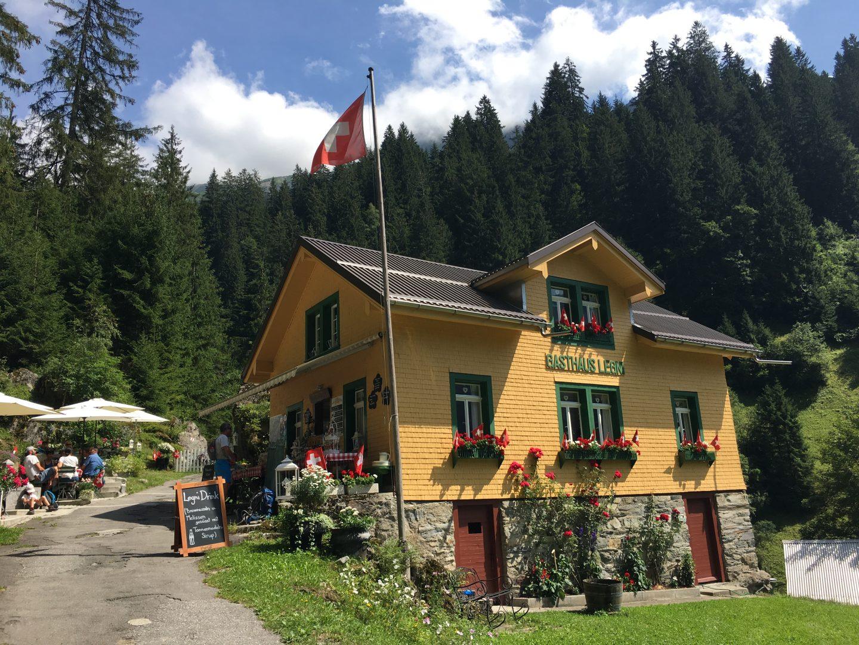 Gasthaus Legni, hiking in switzerland with kids, family friendly alpine trek