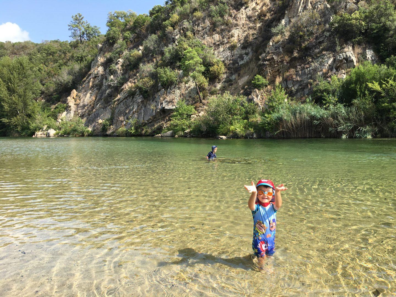 Solenzara, Corsica, river swimming