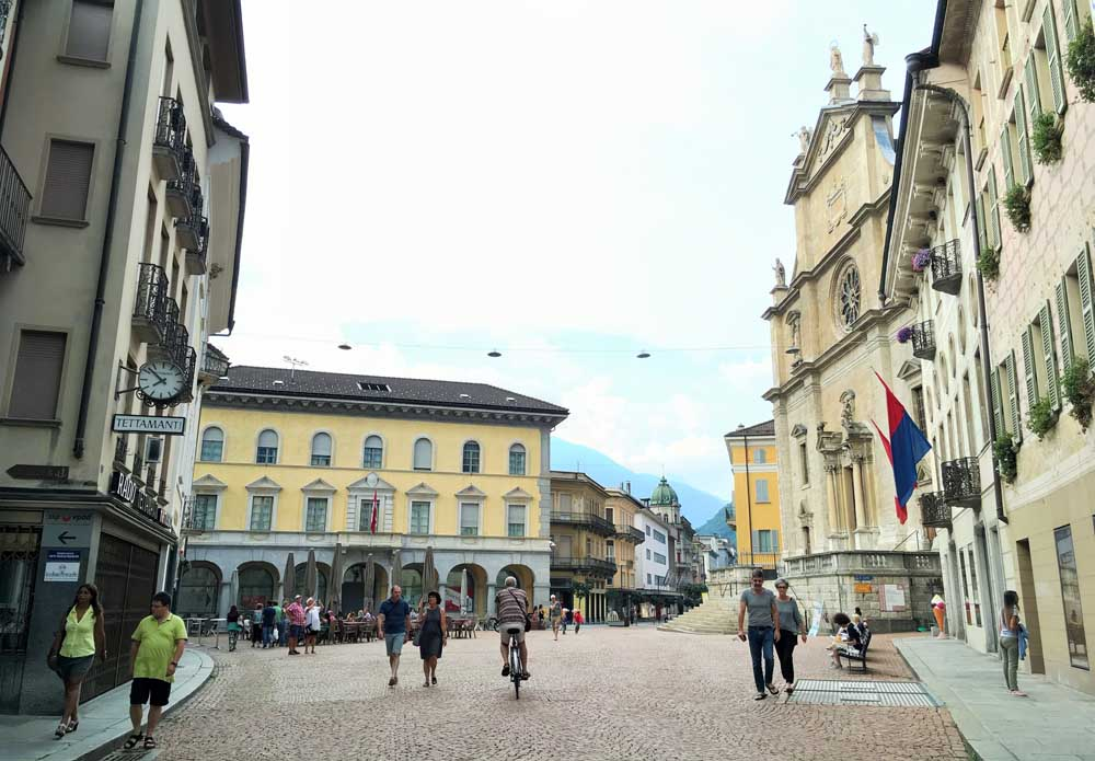 Piazza in Bellinzona, Switzerland