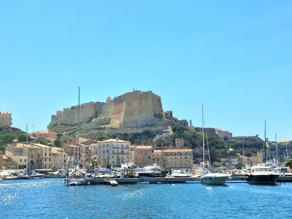 Citadel above harbour, Bonifacio in Corsica