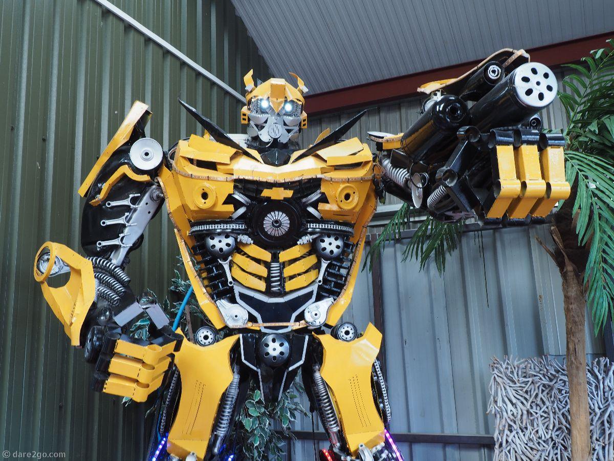 Metal robot at British Ironworks in Shropshire