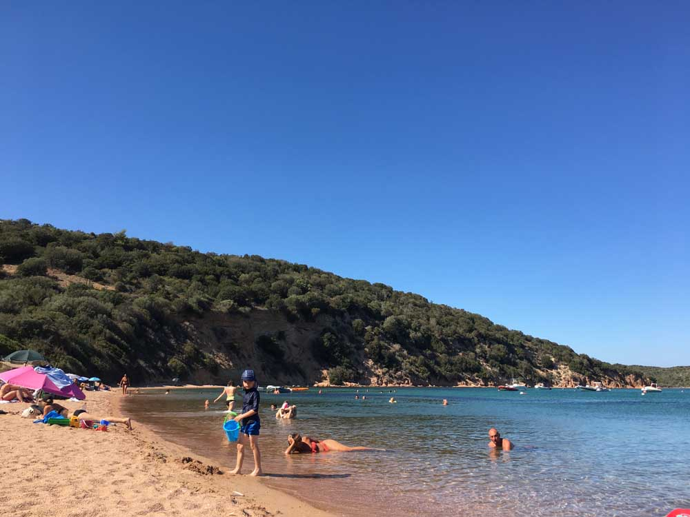sandy beach in Corsica
