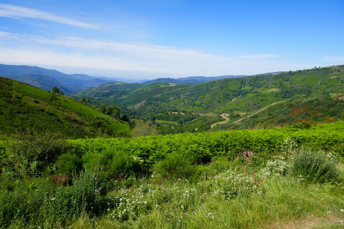 Galicia landscape on the Camino de Santiago, Spain, family walking holidays