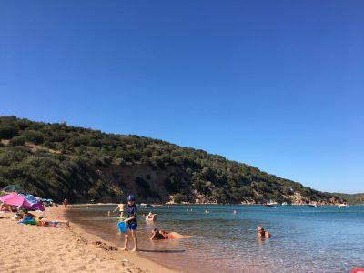 sandy beach in Corsica near Solenzara