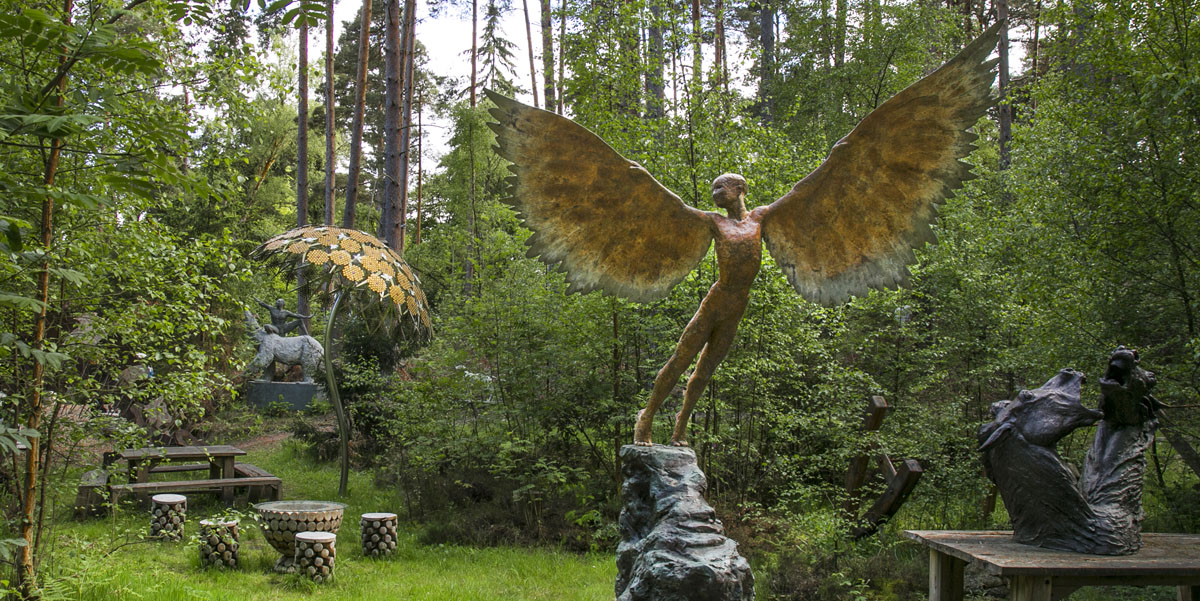 sculpture of Icarus at the Sculpture Park near Churt