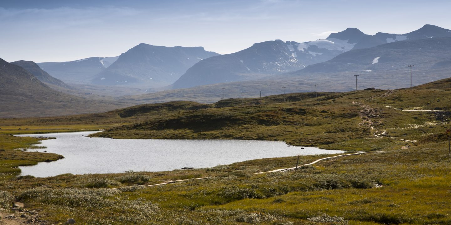 Lakes and mountains of the Jamtland Triangle family hike in Sweden