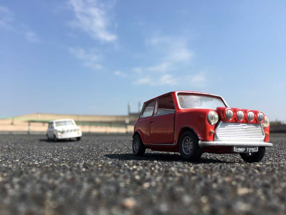 MIni cars on a race track