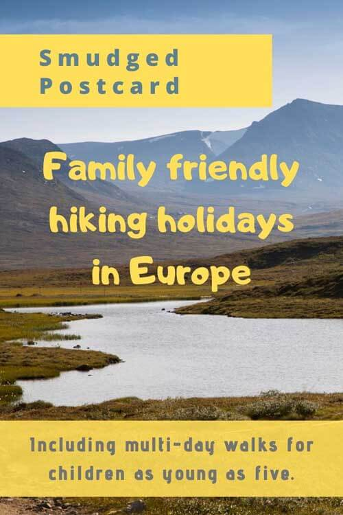 family friendly walking holidays in europe
