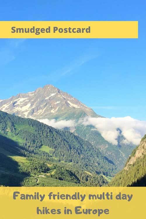 multi day hikes in Europe for families
