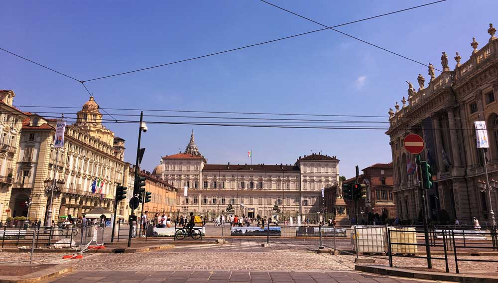 Piazza Castello and Palazzo Reale, Turin Italy