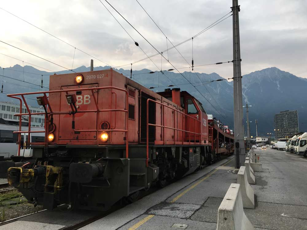 red motorail sleeper train in Austria